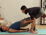 Bridge Pose with Percussive Breathing